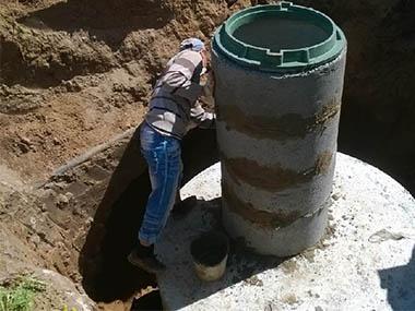 Септик из бетонных колец за сутки