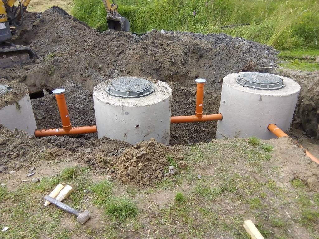 установка бетонных колец для канализации цена
