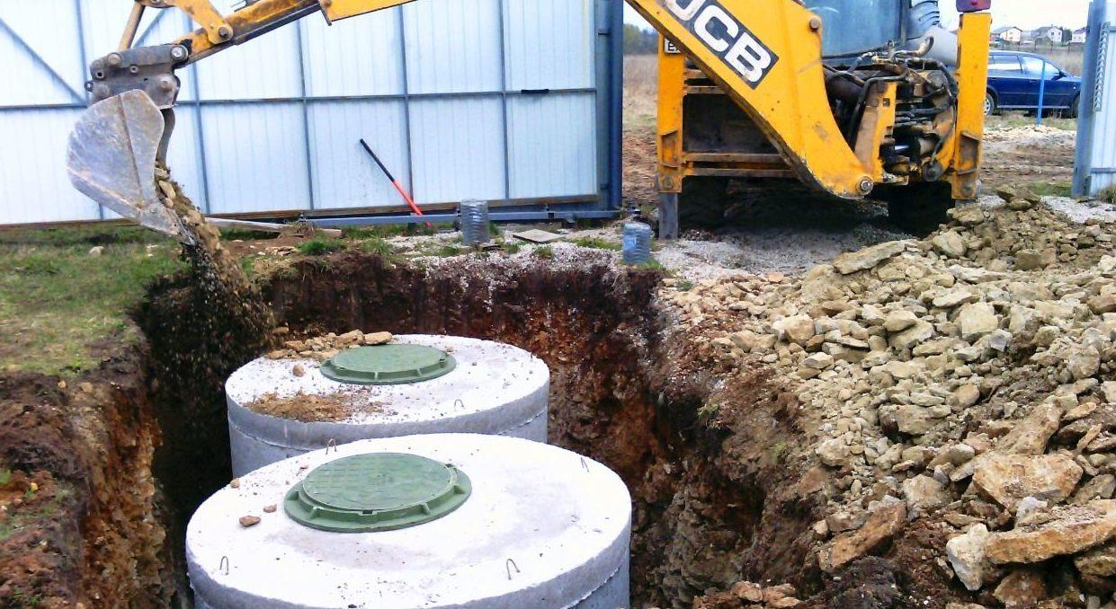 Септик из бетонных колец в Крыму