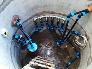 колодец под скважину из бетонных колец